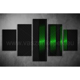 Többrészes Zöld-Fekete vászonkép 076 - (választható formák)