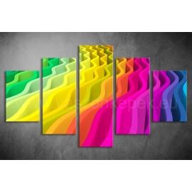 Többrészes Spektrum Hullám vászonkép 090 - (választható formák)
