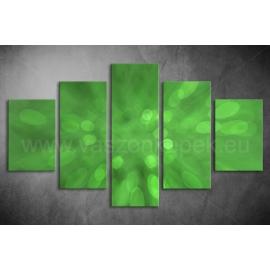 Többrészes Zöld Absztrakt vászonkép 094 - (választható formák)