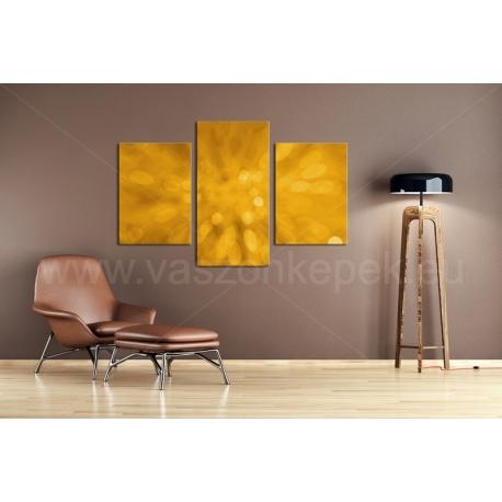 Többrészes Aranysárga Absztrakt vászonkép 096 - (választható formák)