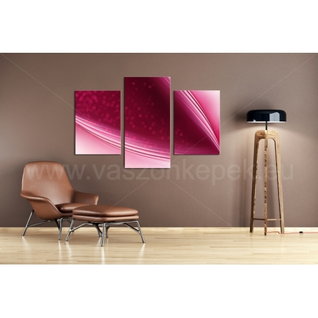 Többrészes Pink Absztrakt vászonkép 118 - (választható formák)
