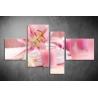 Többrészes Rózsaszín vászonkép 038 - (választható formák)