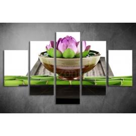 Többrészes Lótuszvirág vászonkép 040 - (választható formák)