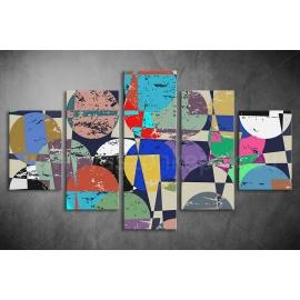 Többrészes Geometria vászonkép 043 - (választható formák)