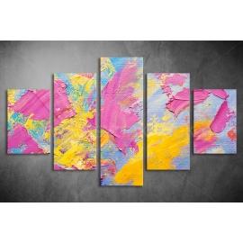 Többrészes Pink Absztrakt vászonkép 055 - (választható formák)