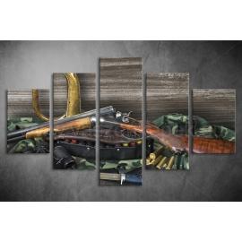 Többrészes Fegyverek vászonkép 009 - (választható formák)