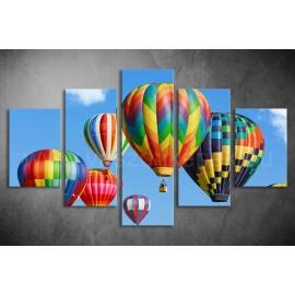 Többrészes Hőlégballon vászonkép 011 - (választható formák)