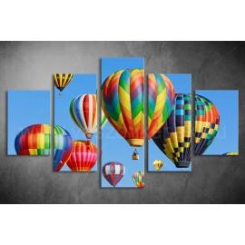 Többrészes Hőlégballon vászonkép 012 - (választható formák)