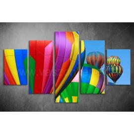 Többrészes Hőlégballon vászonkép 013 - (választható formák)