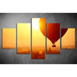Többrészes Hőlégballon vászonkép 022 - (választható formák)