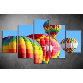 Többrészes Hőlégballonok vászonkép 025 - (választható formák)