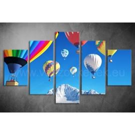 Többrészes Hőlégballonok vászonkép 026 - (választható formák)