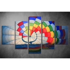 Többrészes Hőlégballon vászonkép 027 - (választható formák)
