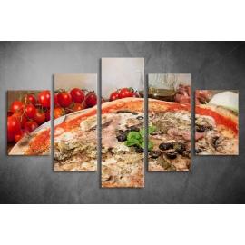 Többrészes Pizza vászonkép 021 - (választható formák)