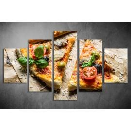 Többrészes Pizza vászonkép 022 - (választható formák)
