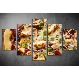 Többrészes Pizza vászonkép 023 - (választható formák)