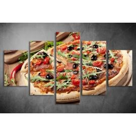 Többrészes Pizza vászonkép 024 - (választható formák)