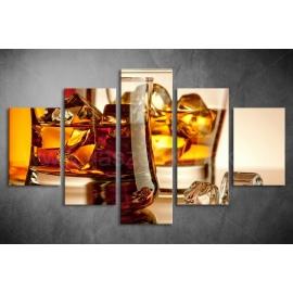 Többrészes Whisky vászonkép 025 - (választható formák)
