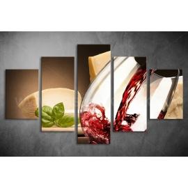 Többrészes étel-ital vászonkép (választható formák)