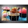Többrészes Muffin vászonkép 040 - (választható formák)