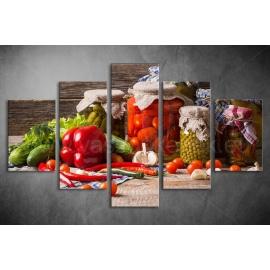 Többrészes Zöldségek, Savanyúságok vászonkép 044 - (választható formák)