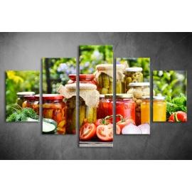 Többrészes Zöldségek, Savanyúságok vászonkép 048 - (választható formák)
