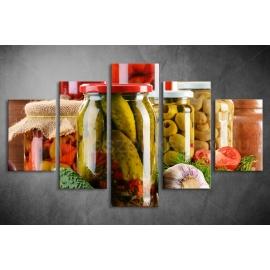 Többrészes Zöldségek, Savanyúságok vászonkép 049 - (választható formák)