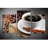 Többrészes Fekete Kávé vászonkép 064 - (választható formák)