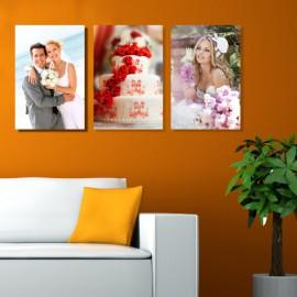 Vászonfotó saját fényképből - Triple - 3db - 30x45 cm