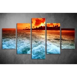 Többrészes tenger vászonkép (választható formák)