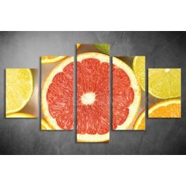 Többrészes Grapefruit vászonkép 002 - (választható formák)