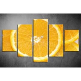 Többrészes Narancs vászonkép 005 - (választható formák)