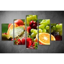 Többrészes Gyümölcsök vászonkép 010 - (választható formák)