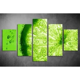 Többrészes Lime vászonkép 012 - (választható formák)
