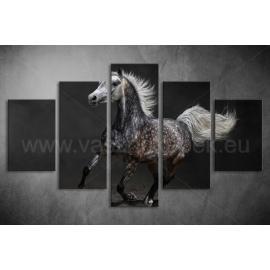 Többrészes Szürke Ló vászonkép 023 - (választható formák)
