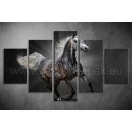 Többrészes Szürke Ló vászonkép 025 - (választható formák)
