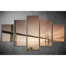 Többrészes Híd vászonkép 002 - (választható formák)