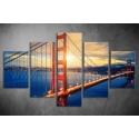 Többrészes Golden Gate vászonkép 003 - (választható formák)