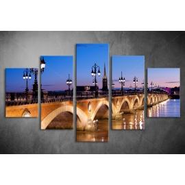 Többrészes Híd vászonkép 006 - (választható formák)