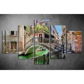 Többrészes Velence, Híd vászonkép 007 - (választható formák)