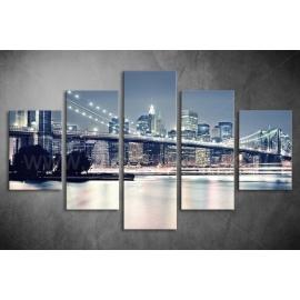 Többrészes Brooklyn Híd vászonkép 010 - (választható formák)