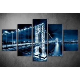 Többrészes Manhattan híd vászonkép 016 - (választható formák)