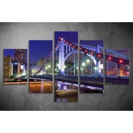 Többrészes Híd vászonkép 026 - (választható formák)