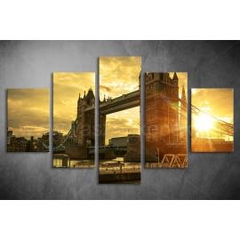Többrészes Tower Bridge vászonkép 029 - (választható formák)