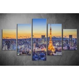Többrészes Párizs vászonkép 009 - (választható formák)