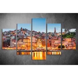 Többrészes Városkép vászonkép 012 - (választható formák)