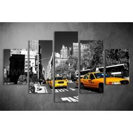 Többrészes NYC Taxi vászonkép 018 - (választható formák)