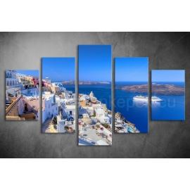 Többrészes Santorini vászonkép 019 - (választható formák)