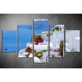 Többrészes Santorini vászonkép 020 - (választható formák)