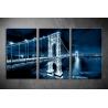 Többrészes Manhattan híd vászonkép 030 - (választható formák)